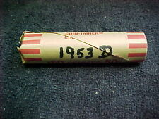 1953 D LINCOLN WHEAT PENNY ROLL