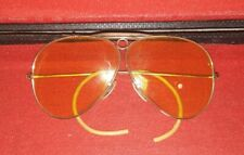 New listing Early Vintage Ray Ban Bausch & Lomb Sun Glasses and Case Yellow 12k Gold Filled