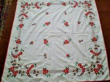Amazing Vintage Hand- Embroidered Tablecloth