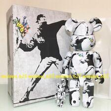 Bearbrick Medicom 2020 Banksy ~ Flower Bomber 100% & 400% Set Be@rbrick
