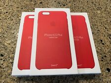 NEW Genuine Apple iPhone 6 Plus 6s Plus (Product) RED LEATHER CASE! Why pay $49?