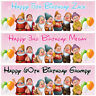 2 Personalised Birthday Banner Seven Drawfs Children Kid Party Decoration poster