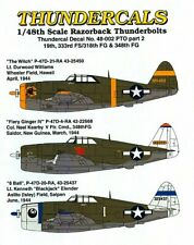 P-47D Razorback Thunderbolts PTO, Part 2, Thundercals 48-002, 1/48 scale decal