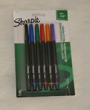 New Sharpie Pens, Fine Point 0.8mm, Assorted Colors, 6-Count