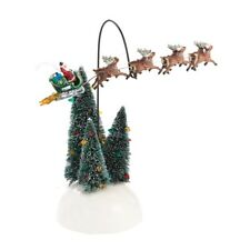 """Dept. 56 Snow Village  """"ANIMATED FLAMING SLEIGH"""" ~ Lampoon's Christmas Vacation"""
