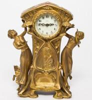 Art Nouveau New Haven Figural Mantel Clock Lot 22