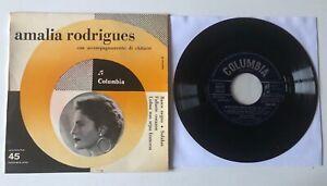"""FADO EP 7"""" COLUMBIA ITALY 1961 AMALIA RODRIGUES CON ACCOMPAGNAMENTO DI CHITARRE"""