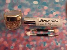Gold Lip & eye glitter make up set incl. glitter, brush & body glue Comic Relief