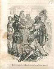 Charles de La Port duc de La Meilleraye reçoit le Bâton de Maréchal GRAVURE 1851