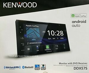 """NEW Kenwood DDX57S 2-DIN 6.8"""" CD/DVD Car Stereo w/ CarPlay & Android Auto"""