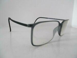 Silhouette Translucent Grey/Blue & Black Full Rim Eye Glasses & Case SPX 2891