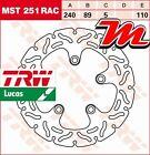 Disque de frein Arrière TRW Lucas MST 251 RAC pour Suzuki RF 900 R GT73B 1994-97