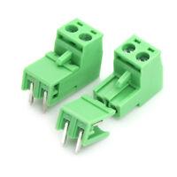 20pcs 5.08mm Pitch 2Pin Plug-in Screw PCB Terminal Block ConnectorSC
