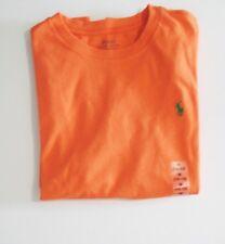 Ralph Lauren Boys Short Sleeve Crew Neck Tee Shirt May Orange Sz M - NWT
