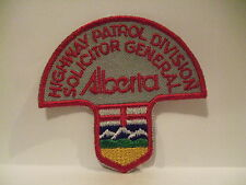 police patch  SOLICITOR GENERAL HIGHWAY PATROL DIVISION ALBERTA CANADA  MUSHROOM