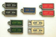DAV Illinois IL Lot of 5 Keychain Plates Tag All # 289-394 Disabled Veterans