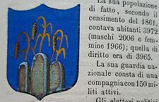 1800 ARALDICA STEMMA MONTORIO AL VOMANO  TERAMO   CON TESTO