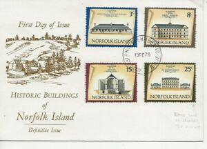 Norfolk Island Comm/FDC - Historical Buildings - 1975 (2031)Q