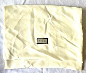 "Silky GUCCI Handbag Dust Cover - 9.5"" wide x 11.5"" tall - Excellent & Unused"