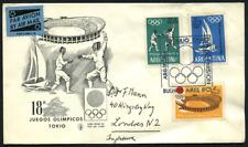 """Argentinien 1964 """"Olympiade Tokio"""" Segeln Fechten Stadion, 843/5"""