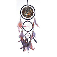 """New 20"""" Long Indian Horse Dream Catcher Wall Hang Decor Feathers Beads Nice Gift"""
