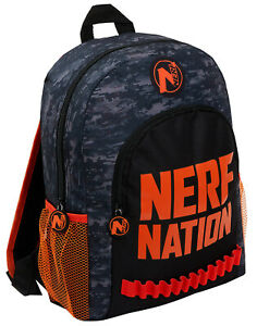 Boys Nerf Nation Backpack Kids Camouflage School Rucksack Lunch Book Travel Bag