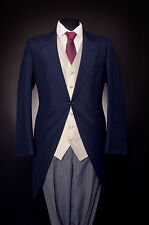 MJ-141 MENS ROYAL BLUE WILVORST TAILS 2PIECE SUIT WEDDING / FORMAL