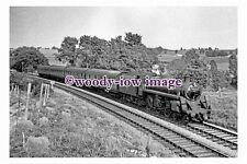 bb0965 - BR Railway Engine 75071 near Shoscombe in 1959 photograph