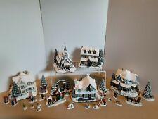 Hawthorne Village 32 Pc Thomas Kinkade Christmas Lamplight Christmas village