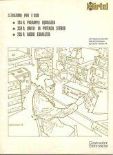 Manuale d'uso per Hirtel 105A / 350A / 205A