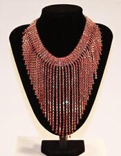 Necklace Earrings Set Premium Fashion Jewelry Multi Strand Red Crystals JXFO NEW