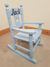 Childrens Personalised Rocking Chair Blue