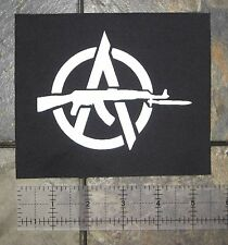 Anti-Government Anarcho Punk Patch Anarchy Human Rights Class War Crass Doom DIY
