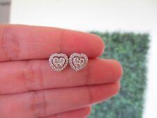 """.60 CTW Diamond Earrings 18k White Gold JS58E sep """"V"""""""