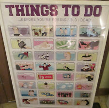 THINGS TO DO BEFORE YOUR DEAD DIE POSTER OOP COLLEGE DRINKING GAMES ALCOHOL