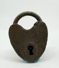 Vintage Heart Shaped Padlock With Working Key