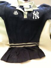 NWOT TODDLER GIRLS 3T NEW YORK YANKEES ADORABLE SHORT SLEEVE DRESS - LOGO-COLLAR