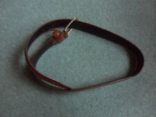 """men's Italian brown leather belt to fit up to 27"""" waist"""