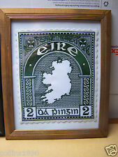 Ireland 1922 2d Map Embroidered Postage Stamp Gift Rare Unique Piece!!!
