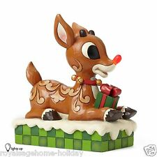 4048591 Large Rudolph w/Lighted Red Nose Christmas Jim Shore Figure Reindeer