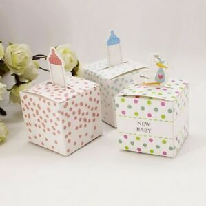 Baby Shower Favour Boxes Box Boy Girl Gender Reveal New Baby Party