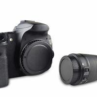 Rear Lens Cover + Camera Body Cap Fit For Canon DSLR SLR EOS Lens