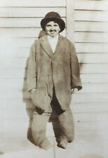 Snapshot Photograph Boy In Hobo Costume Wonky Legs Halloween