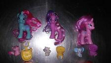 My Little Pony LOT 3 RARE G4 Ponies and Pets Snowcatcher - Cupcake -Twinkleshine