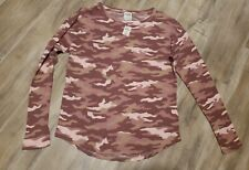 Victoria Secret PINK Camouflage Long Sleeve Shirt Small *NWT*
