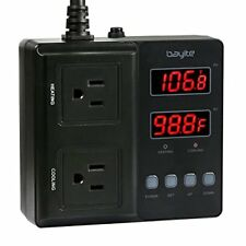 bayite Temperature Controller 1650W BTC211 Digital Outlet Thermostat Pre... NEW