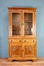 Oak Glazed Bookcase (100579)