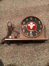 Vintage Art Deco 3 Feathers Whiskey Clock Sign Topper