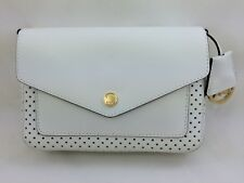 886e1d1d8ce1c8 New Authentic MICHAEL Michael Kors Greenwich Small Flap Leather Crossbody  White