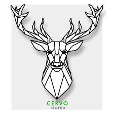 Adesivo sagomato in PVC - testa di cervo - trofeo